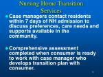 nursing home transition services
