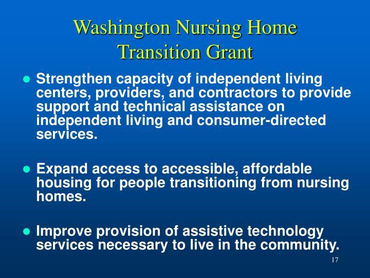 Washington Nursing Home Transition Grant