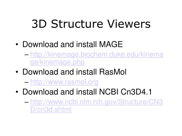 3D Structure Viewers