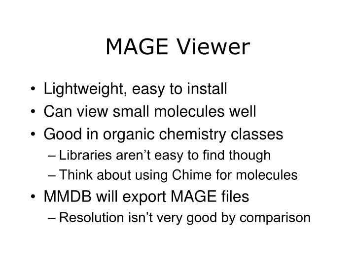 MAGE Viewer