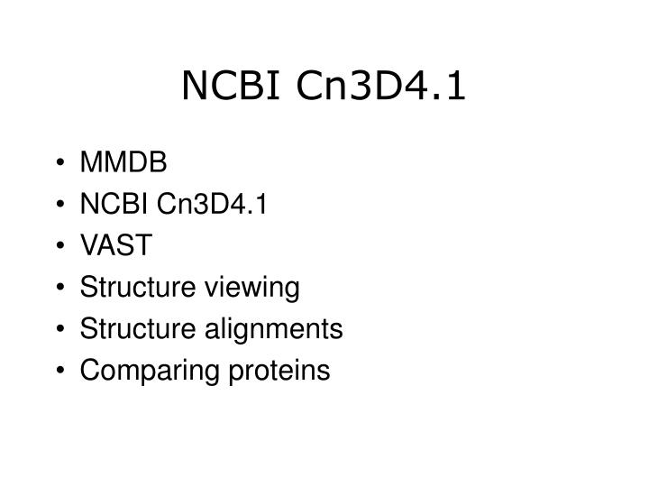 NCBI Cn3D4.1