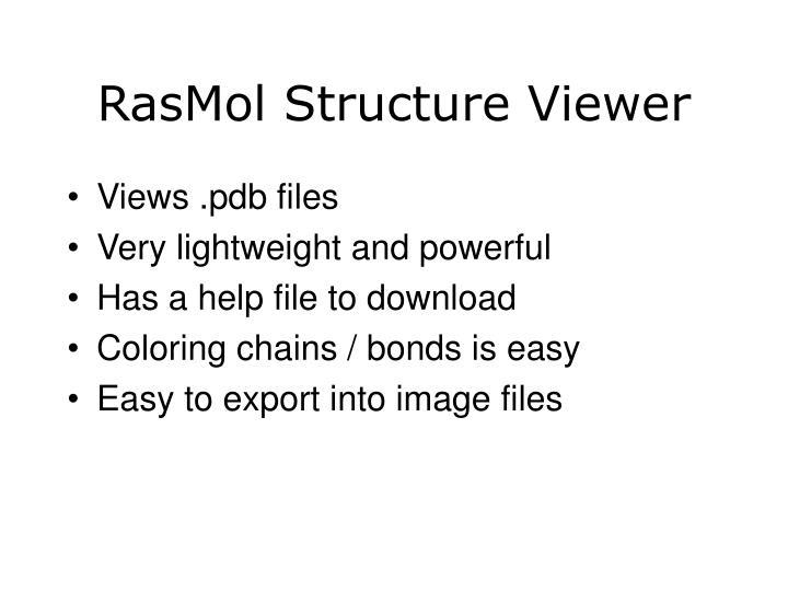 RasMol Structure Viewer