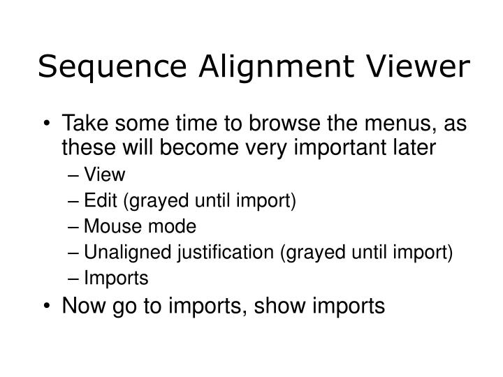 Sequence Alignment Viewer