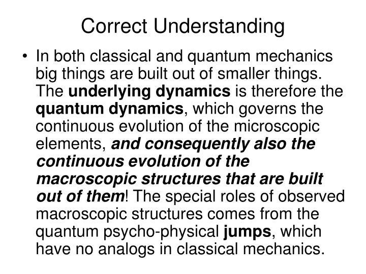 Correct Understanding