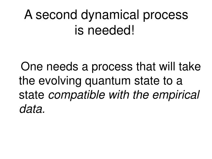 A second dynamical process    is needed!