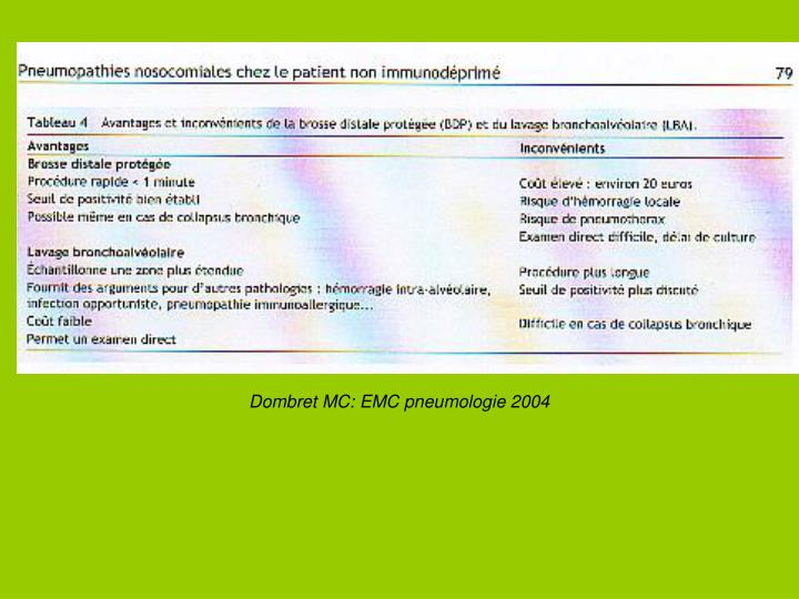 Dombret MC: EMC pneumologie 2004