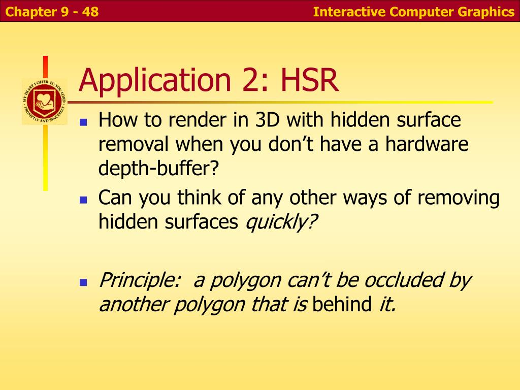 Application 2: HSR