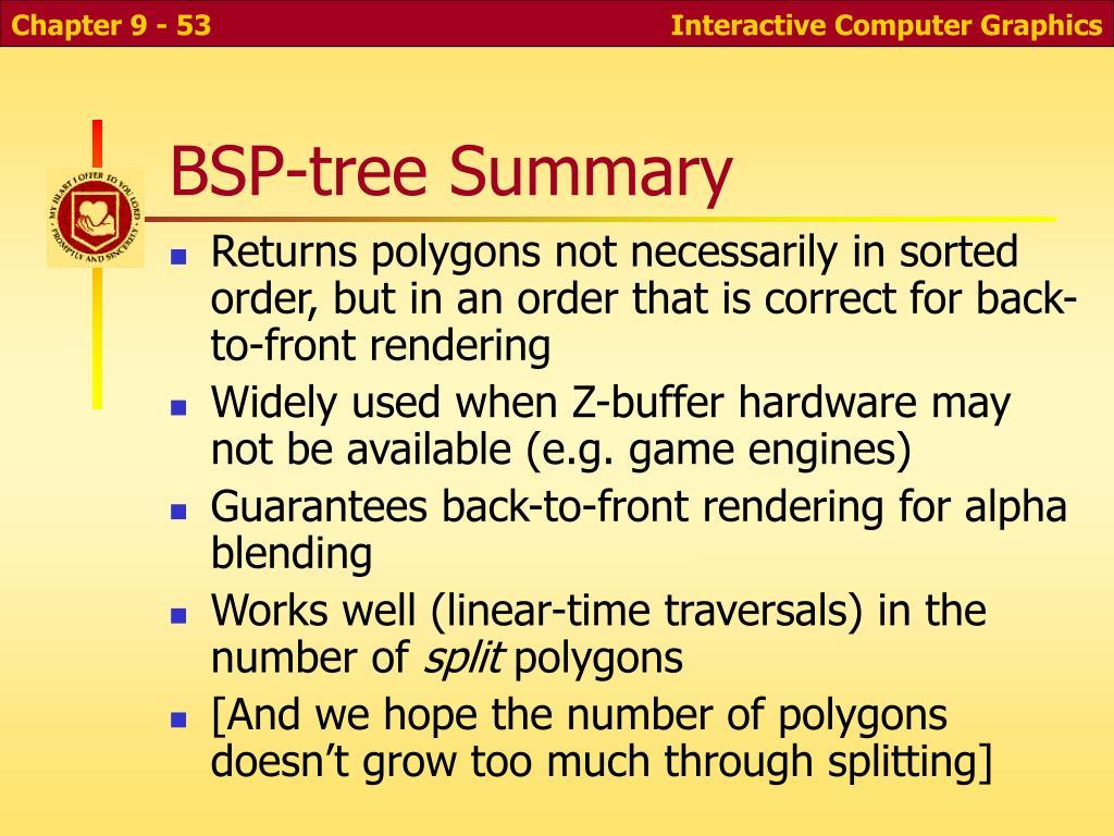 BSP-tree Summary