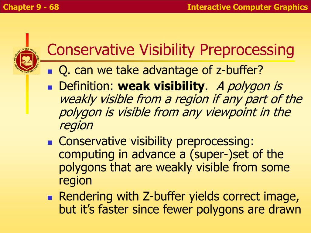 Conservative Visibility Preprocessing