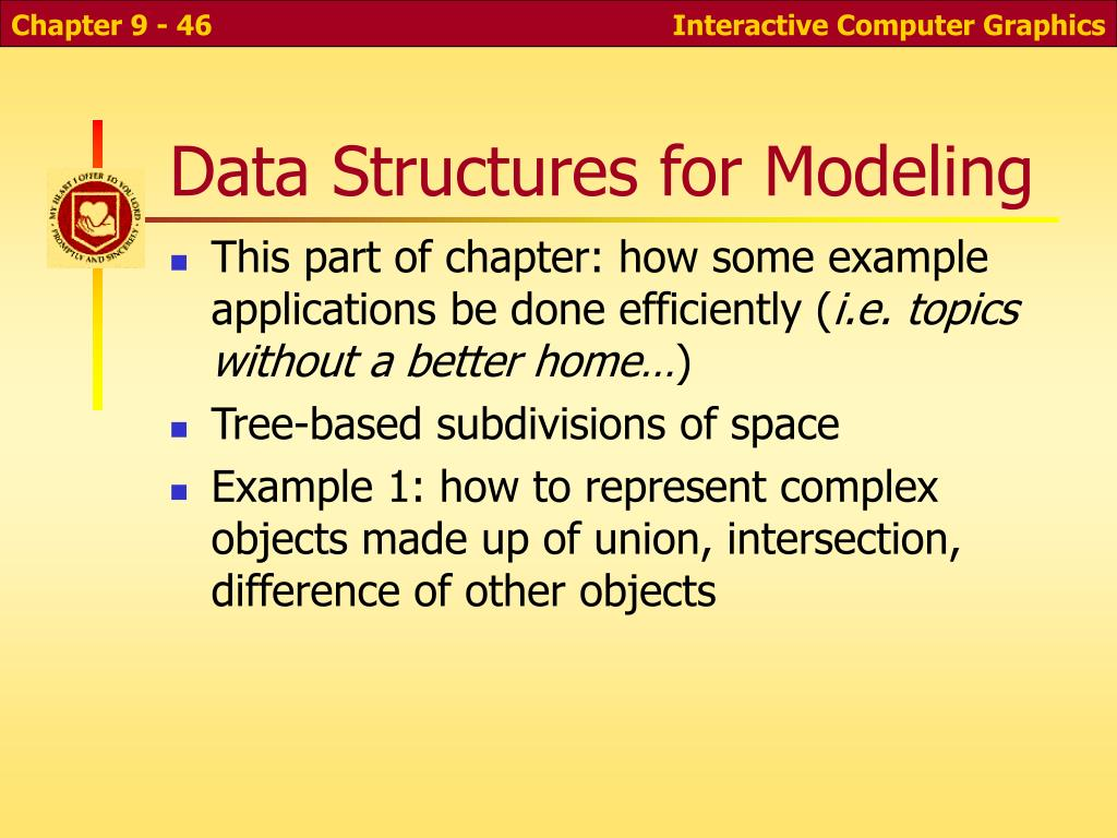 Data Structures for Modeling