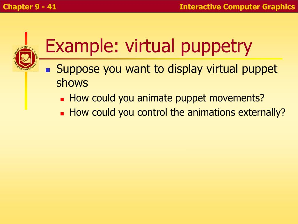 Example: virtual puppetry