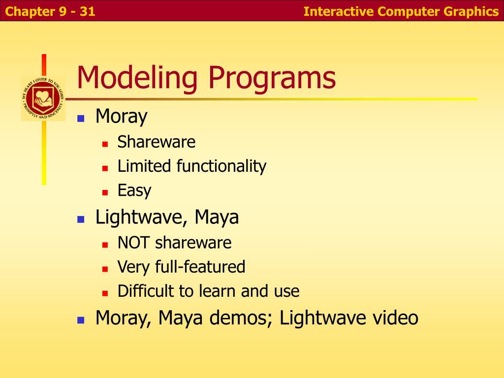 Modeling Programs