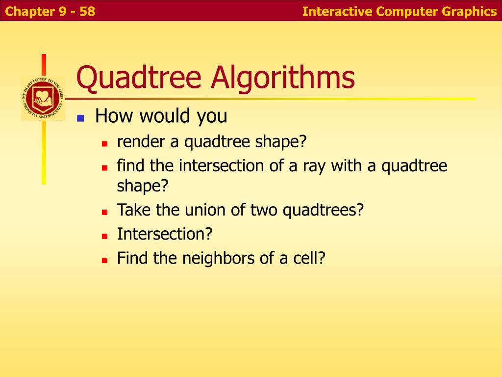 Quadtree Algorithms