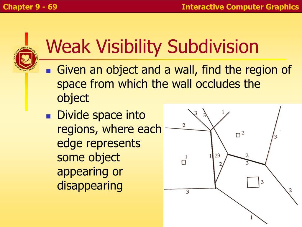 Weak Visibility Subdivision
