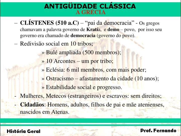 CLÍSTENES (510 a.C)