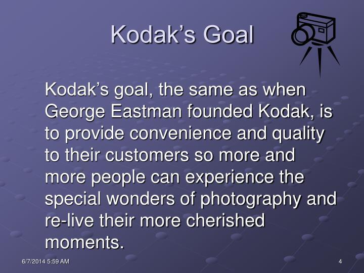 Kodak's Goal