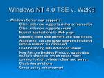 windows nt 4 0 tse v w2k3