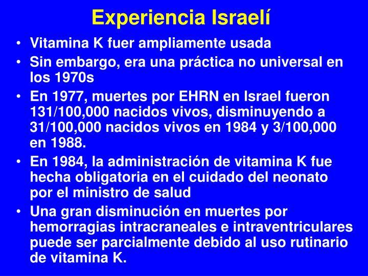 Experiencia Israelí