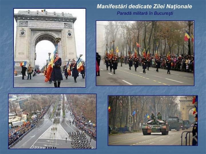 Manifestări dedicate Zilei Naţionale