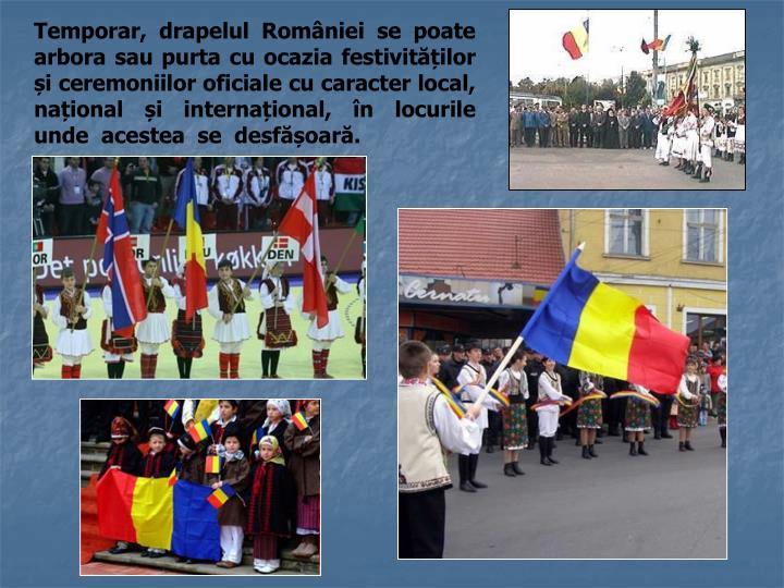 Temporar, drapelul României se poate arbora