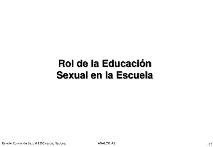 Rol de la Educación Sexual en la Escuela