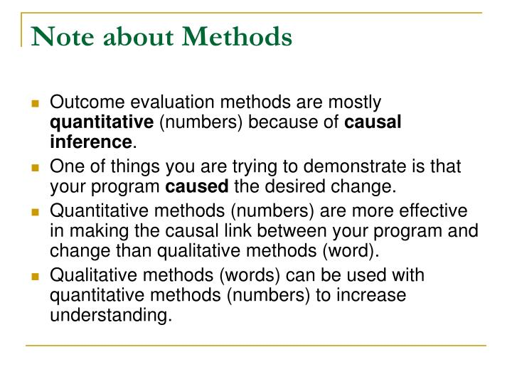 Note about Methods