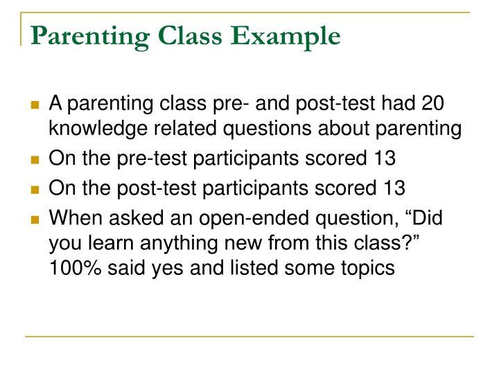 Parenting Class Example