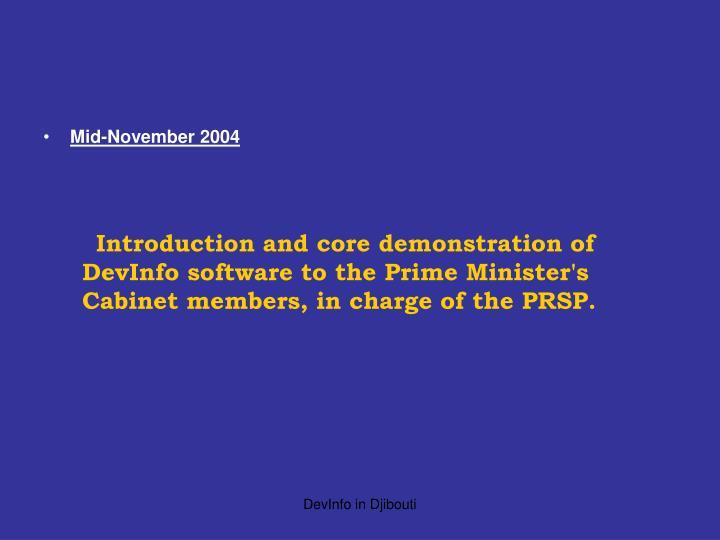 Mid-November 2004