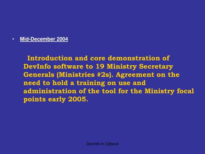 Mid-December 2004