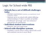 logic for school wide pbs