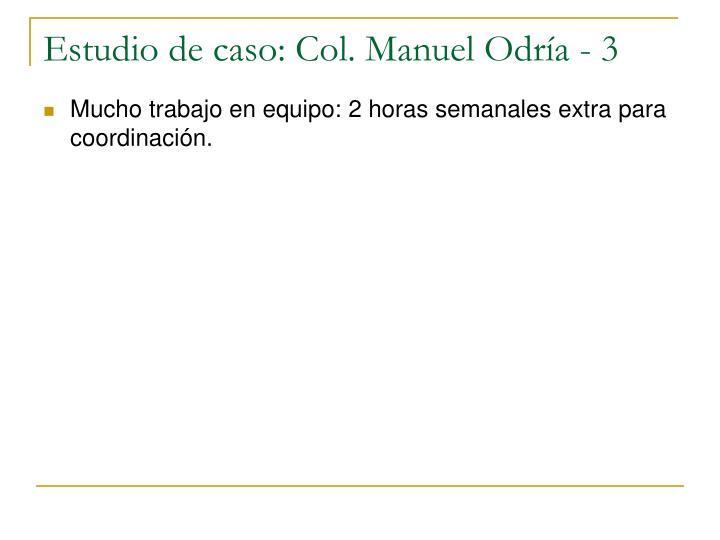 Estudio de caso: Col. Manuel Odría - 3