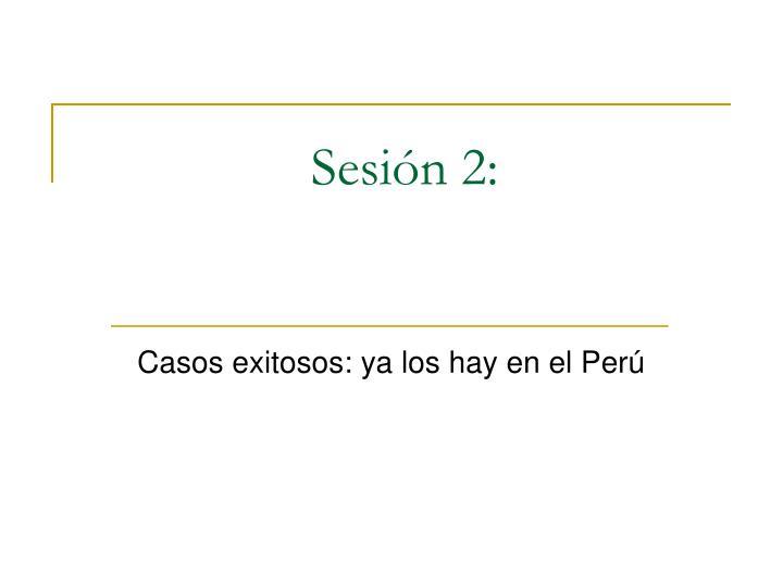 Sesión 2: