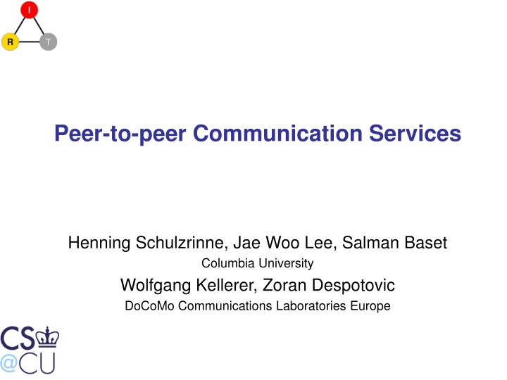 Peer to peer communication services