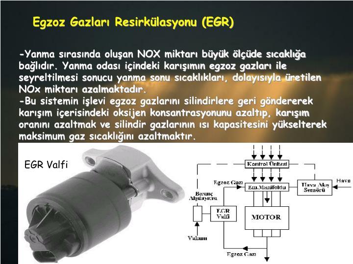 Egzoz Gazları Resirkülasyonu (EGR)