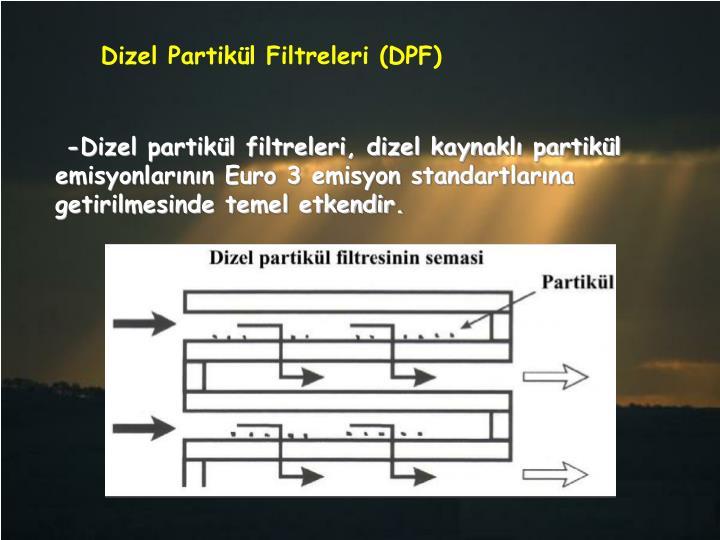 Dizel Partikül Filtreleri (DPF)