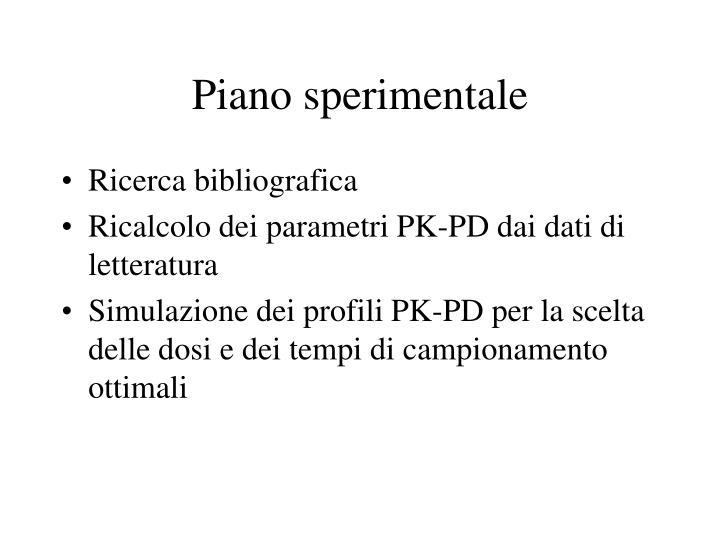 Piano sperimentale