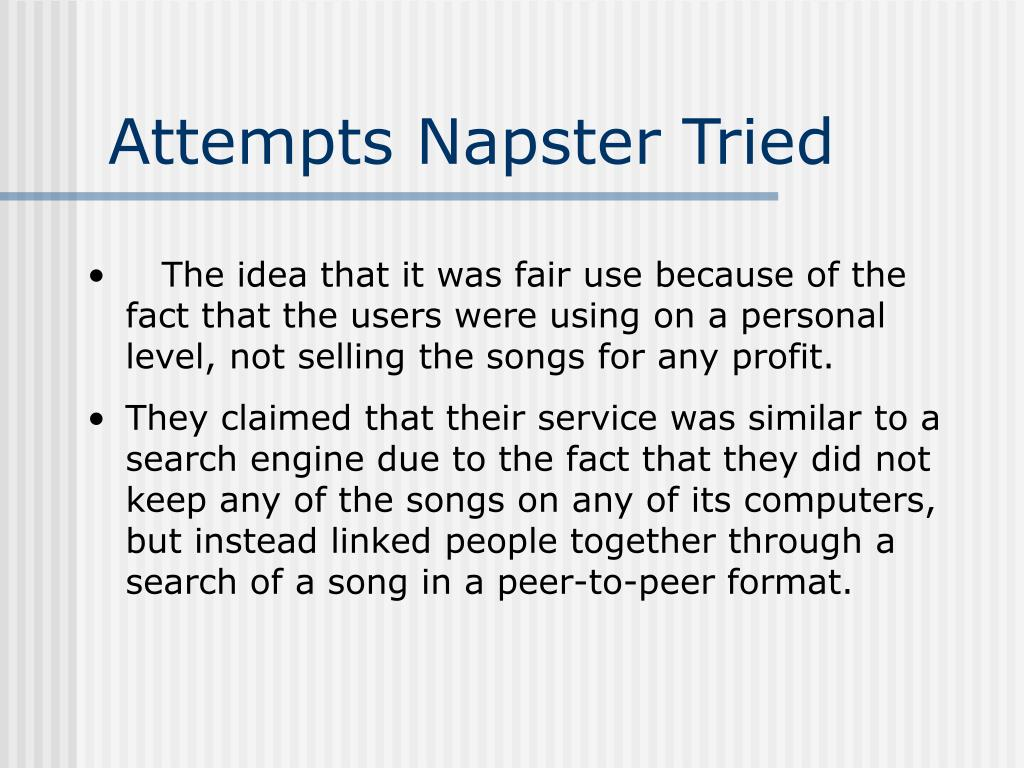 Attempts Napster Tried