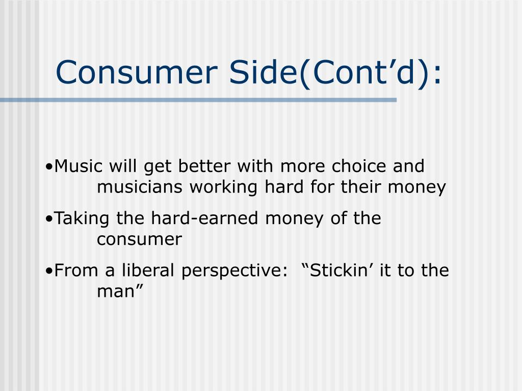 Consumer Side(Cont'd):