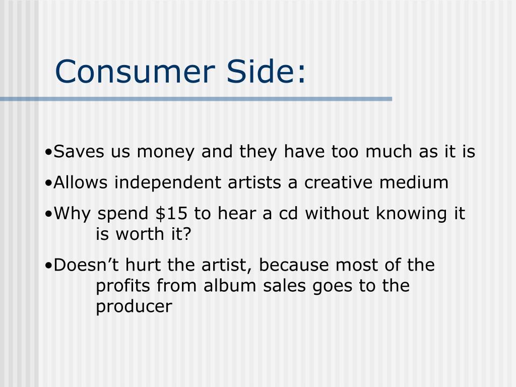 Consumer Side: