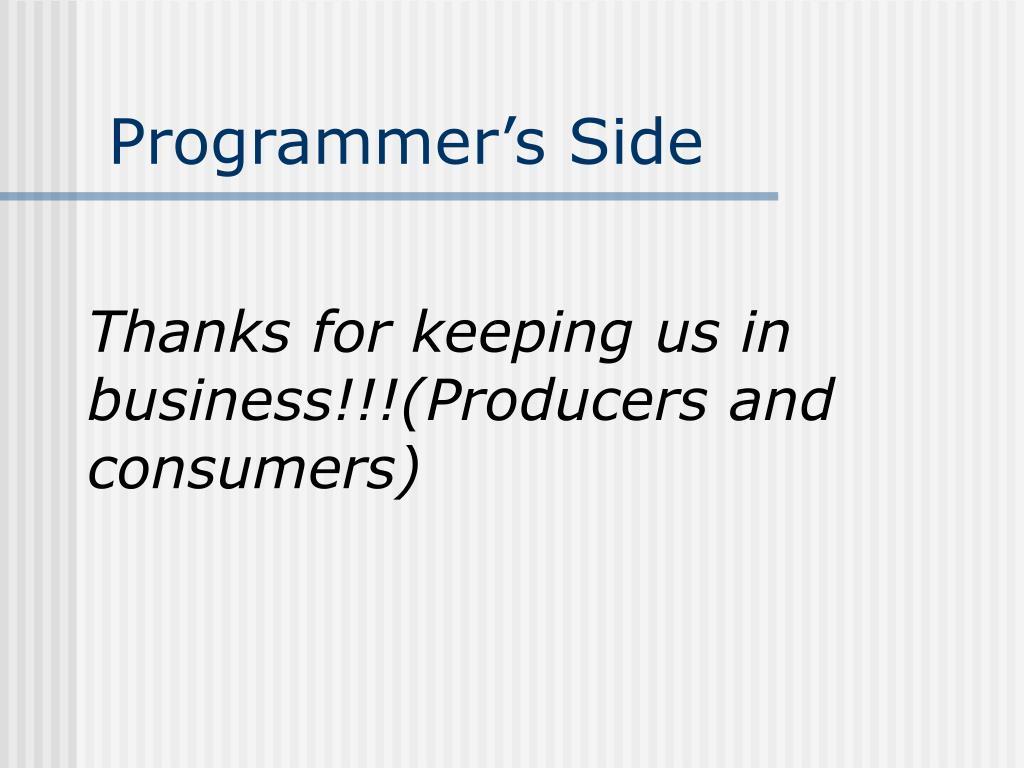 Programmer's Side