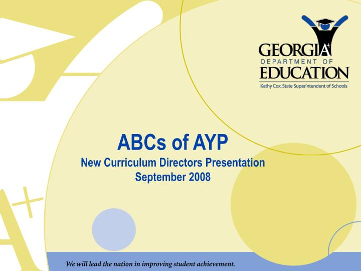 ABCs of AYP