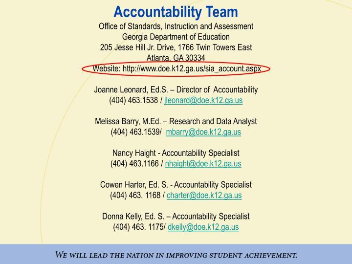 Accountability Team