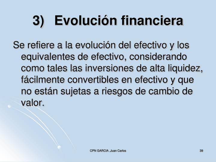 3)Evolución financiera
