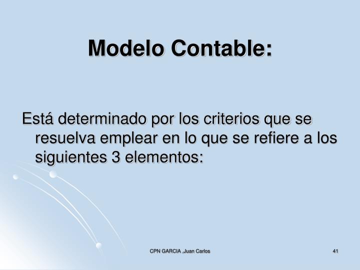 Modelo Contable: