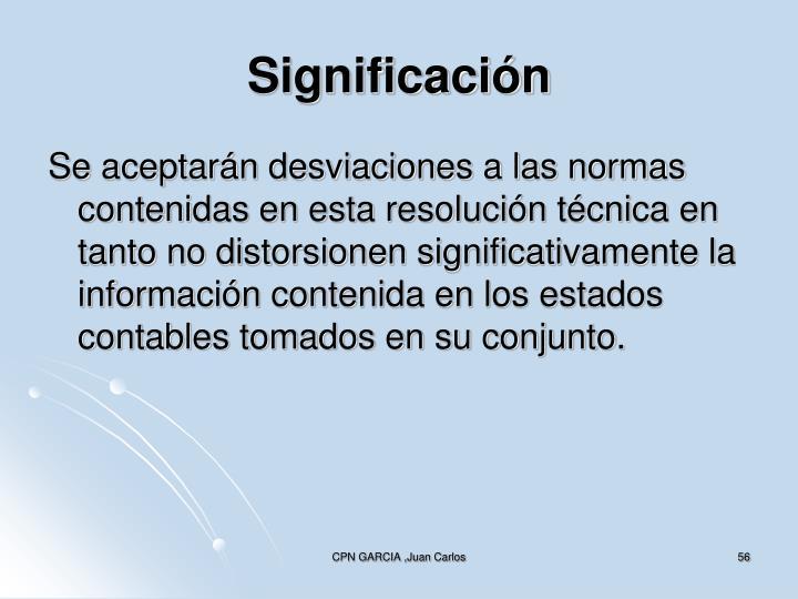 Significación