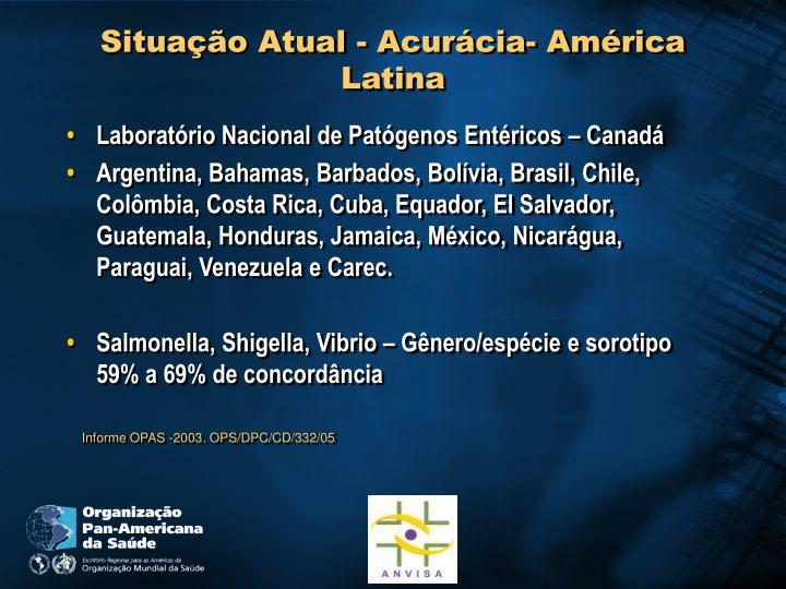 Situação Atual - Acurácia- América Latina