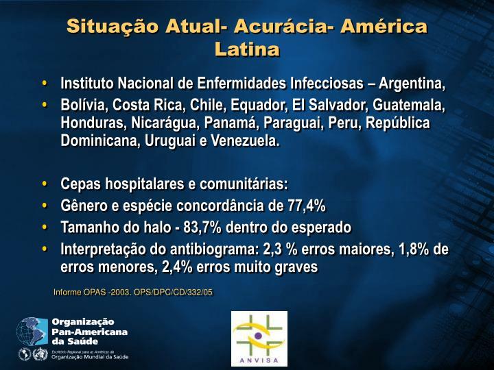 Situação Atual- Acurácia- América Latina