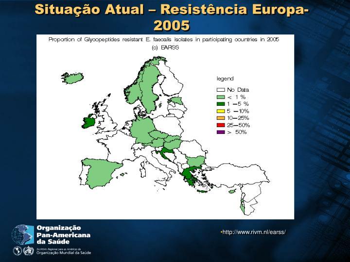 Situação Atual – Resistência Europa-2005