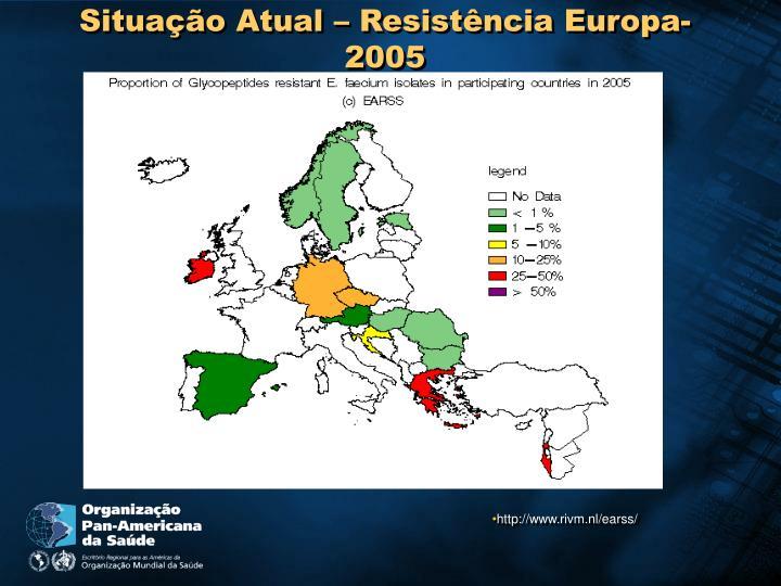 Situação Atual – Resistência Europa- 2005