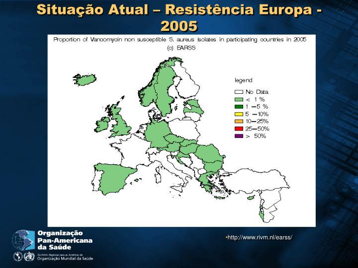 Situação Atual – Resistência Europa -2005